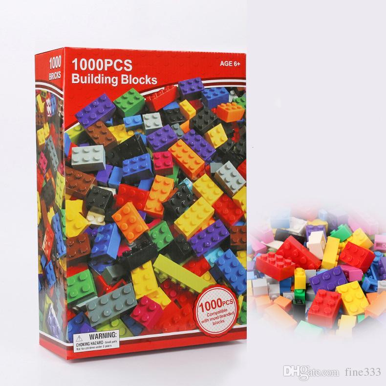 어린이를위한 1000PCS 빌딩 블록 블록 퍼즐 빌딩 블록 DIY 아동 지능 교육 가든 빌라 조립 Lepin 블록 큰 선물