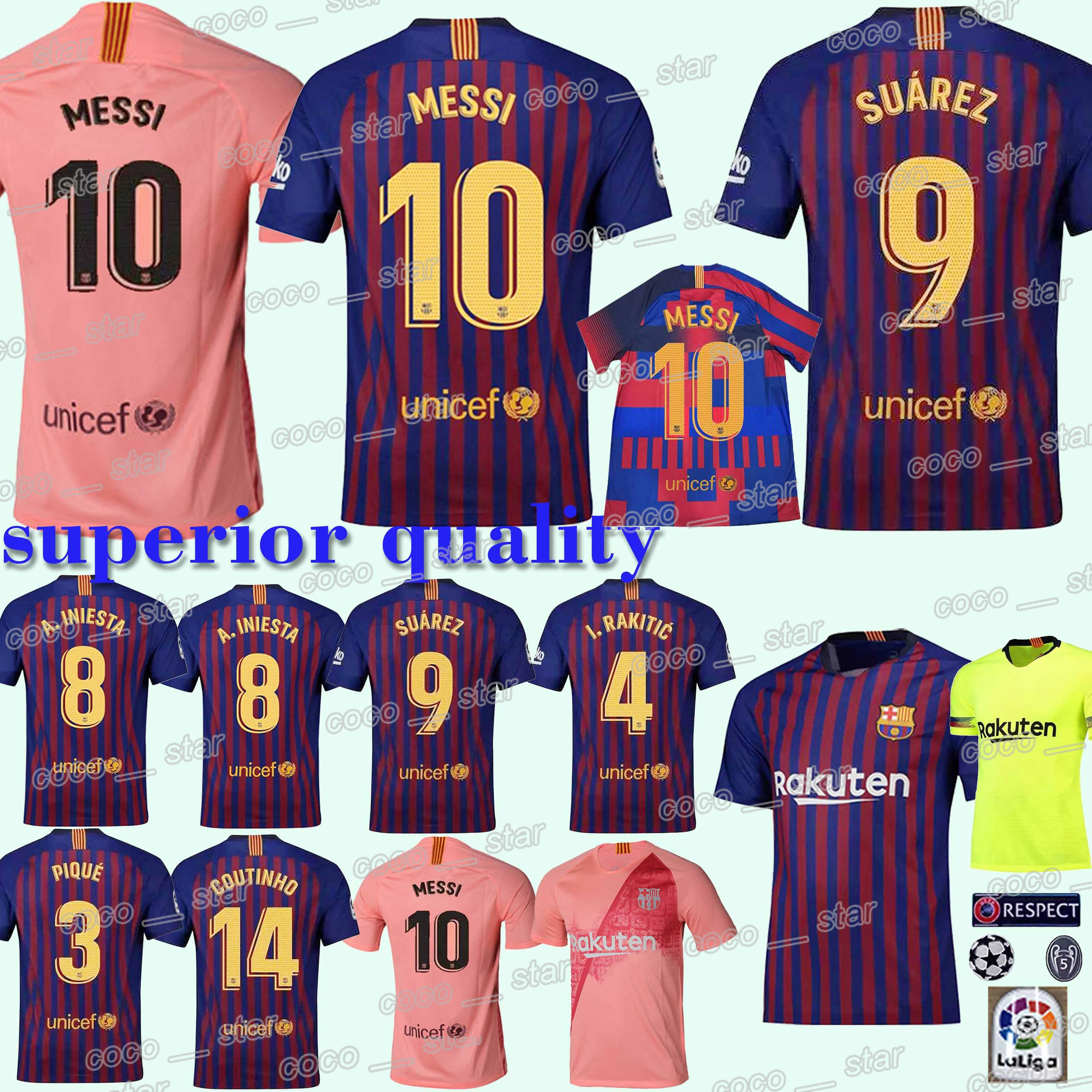 huge selection of 185ad e796c 2019 #10 Messi Barcelona Soccer Jersey SUAREZ O.DEMBELE 18 19 Football  Jerseys Pink PIQUE Messi Club Team Football Uniform From  Best_jerseys_store, ...
