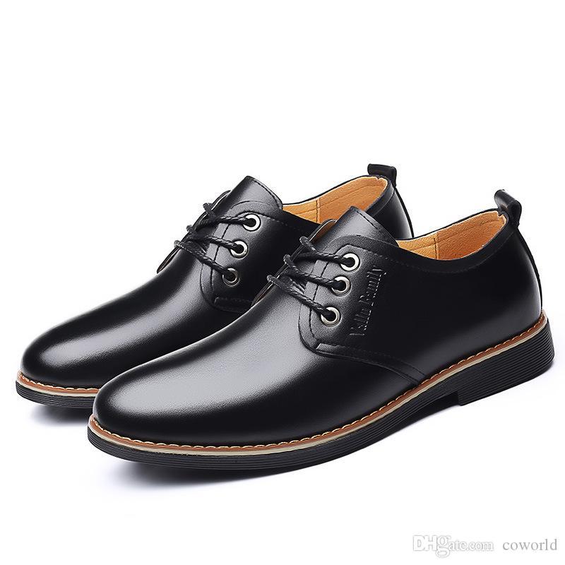 Zapatos Zapatos de vestir de cuero de alta calidad de los hombres de Oxford de los hombres de moda negocio de los zapatos de la boda vestido de los hombres en punta