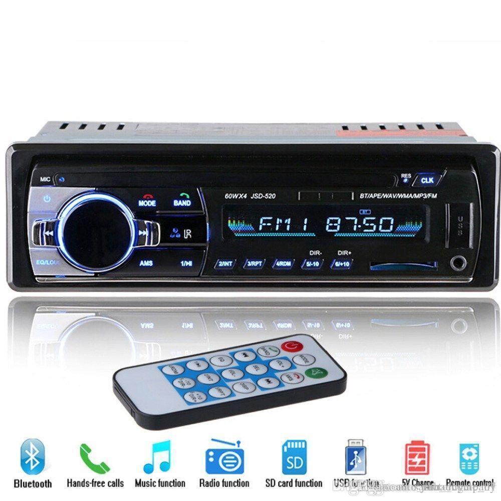 ستيريو بلوتوث 12V السيارات FM راديو MP3 أغنية لاعب 5V شاحن USB SD AUX إلكترونيات السيارات مضخم صوت في اندفاعة 1 DIN Autoradio شحن مجاني