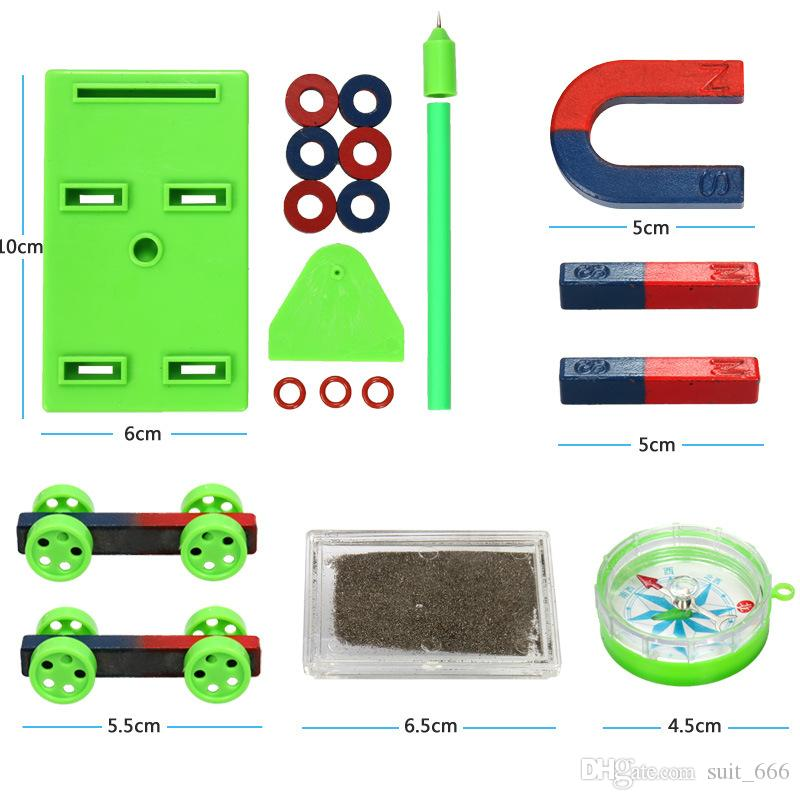 L'enseignement ensemble jouets Cop magnétiques boîte de poudre de fer absorbant le fer rond en forme de U lévitation magnétique équipement expérimental