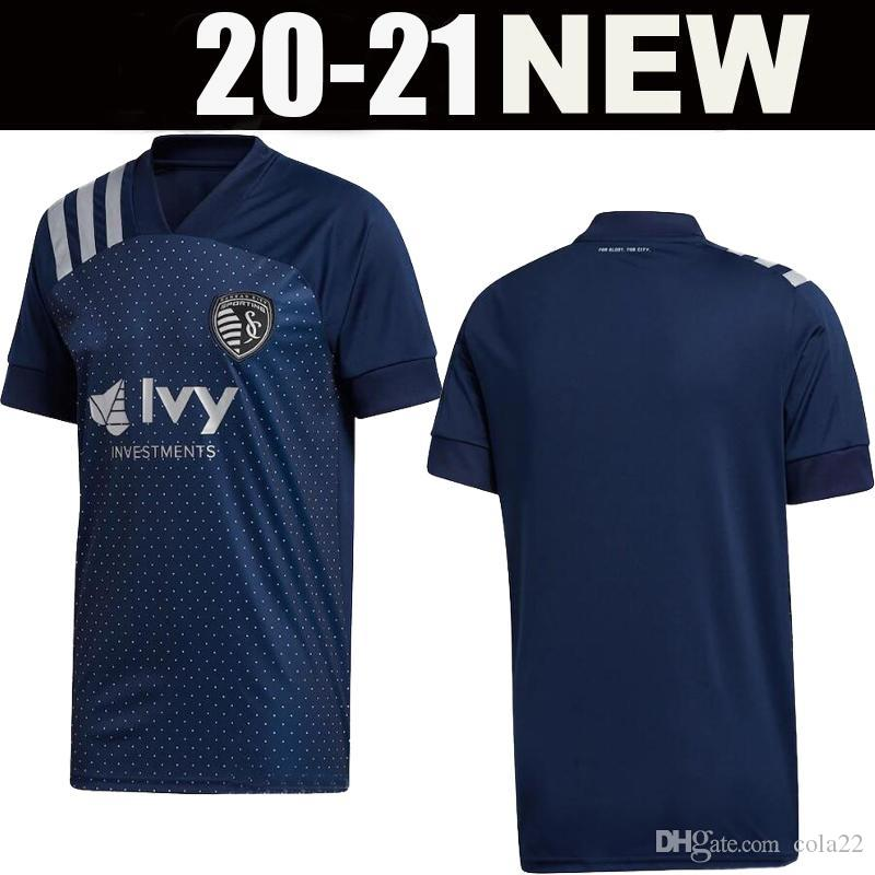 новый 2020 Спортинг Канзас-Сити футбол кофта 2021 МЛС Пулидо BUSIO Рассел GERSO вроде Гутьеррес футбольные футболки