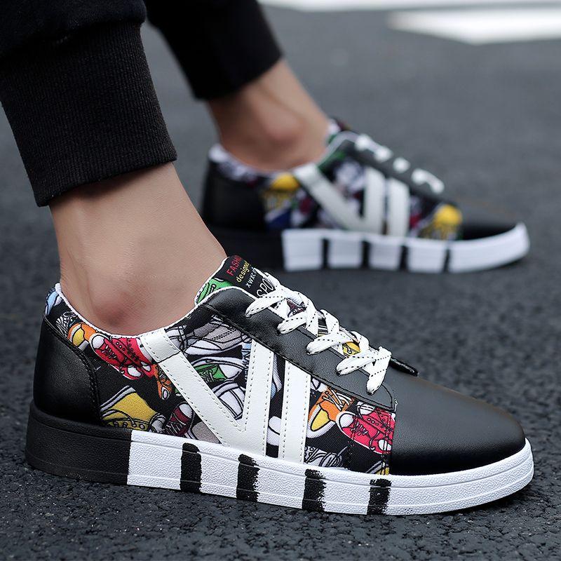 Flax Luxusfrauen Mens Schwarz-weißes Leder-Segeltuch-beiläufige Schuh-Plattform-Designer Sport Turnschuhe Selbst gemachte Marke Made in China Größe 35-44