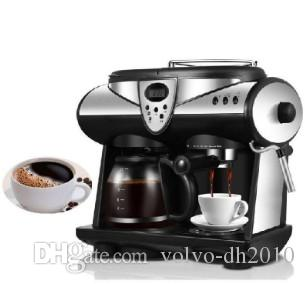 Household Coffee Machine LCD Display Screen Fully Automatic Coffee Maker American Espresso Coffee Grinder Beans Powder Dual Use Coffe Make