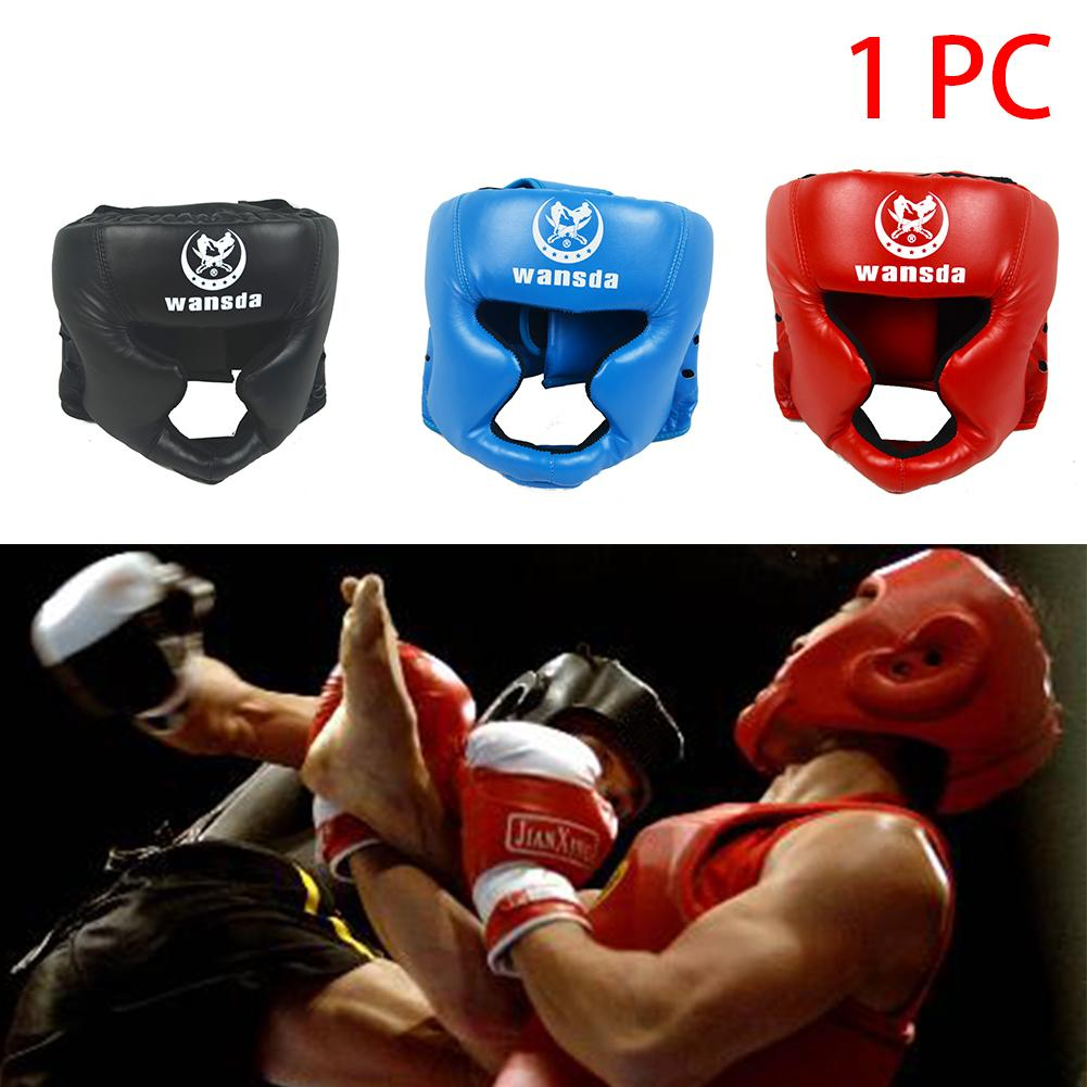 Pelle Boxing Capo Guardia pratica Attrezzature Fitness arte marziale Boxing Casco Protettivo Taekwondo Faux
