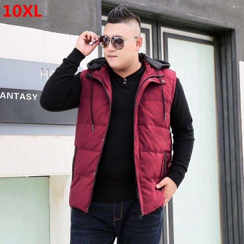Hiver bas du code extra large hommes veste de veste taille plus casual marée gilet usure 8XL9XL10XL