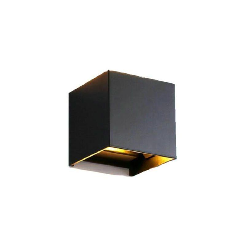 12W dimmable COB cube IP65 surface réglable monté lightig LED LED extérieure de la paroi intérieure vers le bas jusqu'à applique murale LED