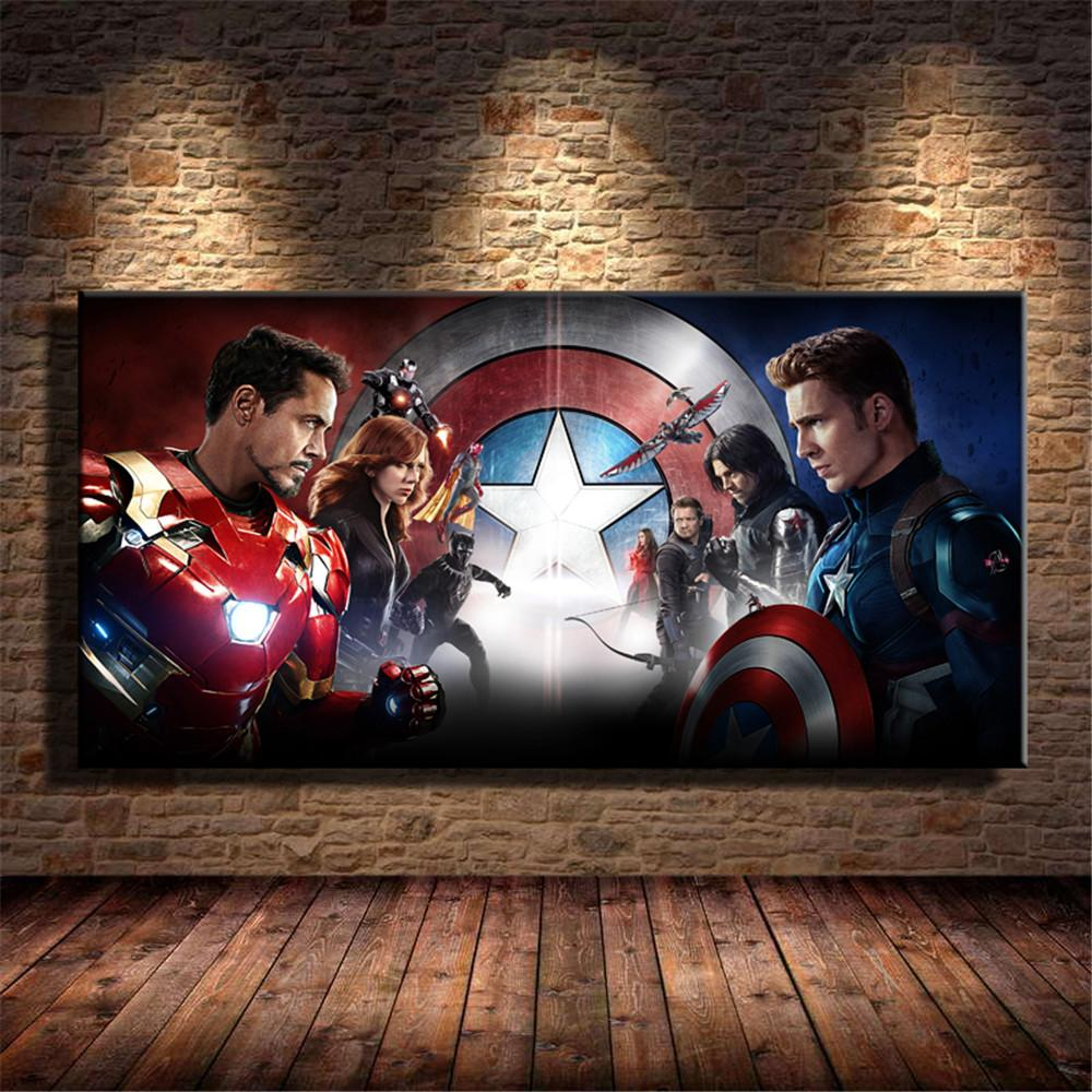 2020 Captain America Civil War 2016 Movies Home Decor Hd Printed Modern Art Painting On Canvas Unframed Framed From Q652398773 7 Dhgate Com