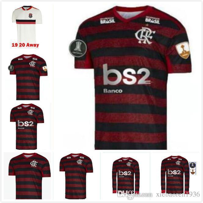 2019 FLAMENGO home Long sleeve soccer jerseys brazil league red 19 20 AWAY DIEGO 10 WHITE brasil jersey 2020 football shirts