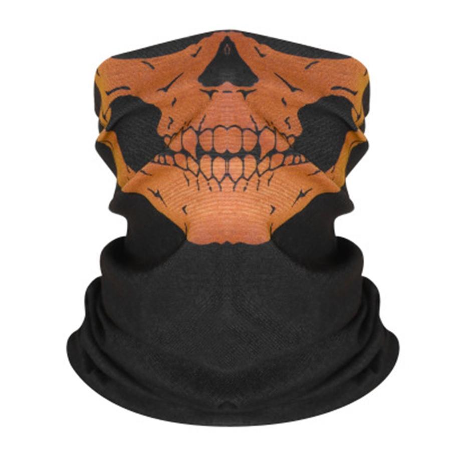 Máscaras novo crânio cor sólida Ciclismo Headband impressão Hairband face exterior Skull Scarf Luz respirável EDC macia Magia Headwear 8 cores K9 # 875