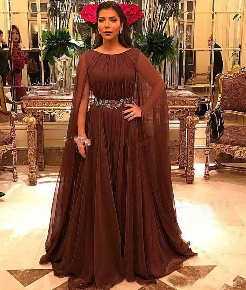Mode Brown Mère de la mariée Robes De Mariée Plus Taille Scoop Col Sans Manches Mère de la mariée Vestido de Madrin