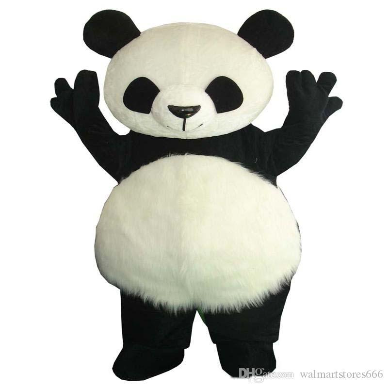 2019 rabatt fabrik verkauf Klassische Panda Maskottchen Kostüm Panda Maskottchen Kostüm Riesenpanda Maskottchen Kostüm Freies Verschiffen