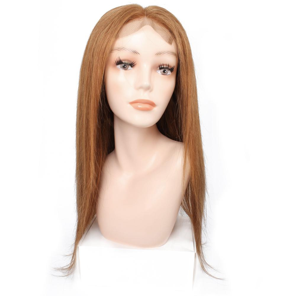 Kisshair Dritto Parrucche anteriori del pizzo dei capelli umani 4 * 4 chiusura del pizzo # 8 Ash Brown # 27 Miele Blonde # 30 Medio Auburn Parrucca brasiliana dei capelli umani