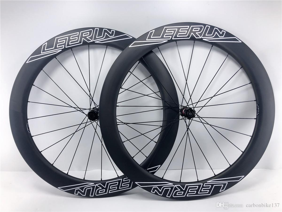 2020 NEW carbon wheels disc brake tubeless rims 24/24 holes OEM LEERUN logo 700C road bike carbon wheelsset with DT 240 hubs