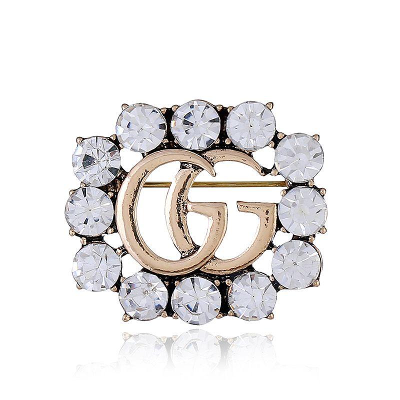 Moda-Satış yeni ladies'apparel aksesuarları kristal broş güzel zarif alaşım işlemeli elmas broşu