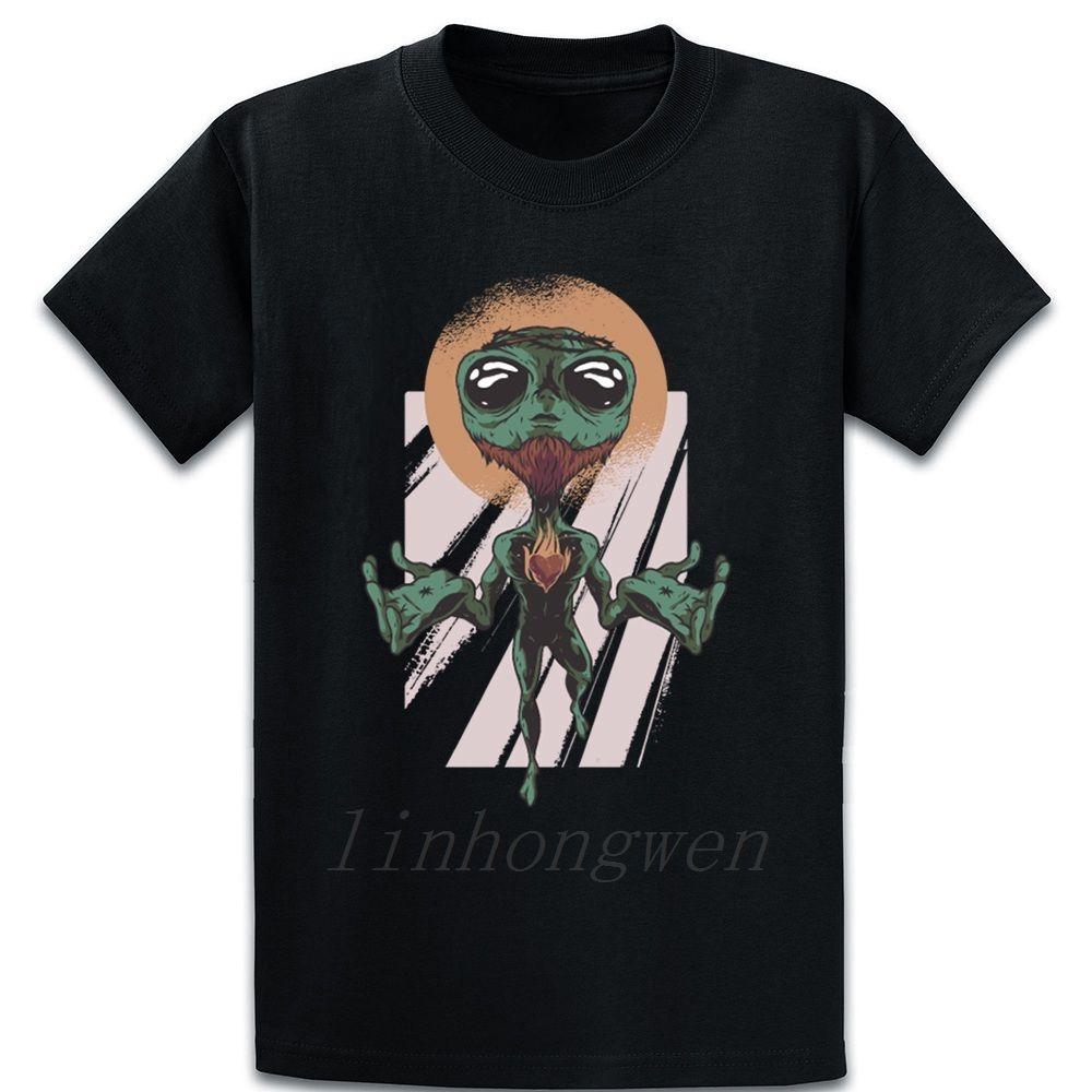 Alien Jésus T-shirt personnalisé Lussi Équipage naturel Lettres cou été Chemise en coton