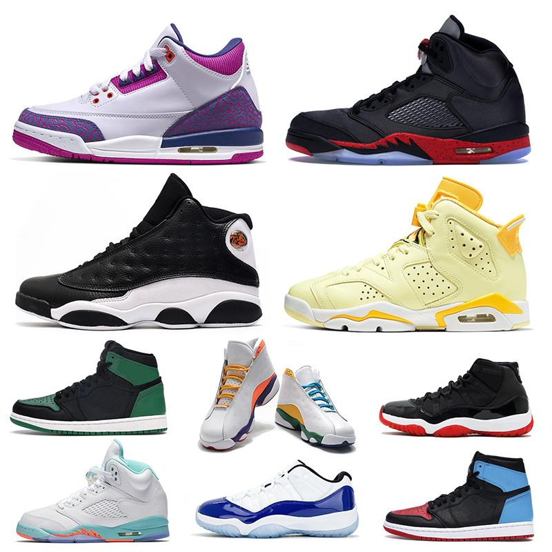 las mujeres los zapatos de baloncesto jumpman 11s criados 6s Floral metálico Pascua 5s 3s uva Zona de juegos 13s 1s UNC para mujer preparadores físicos las zapatillas de deporte