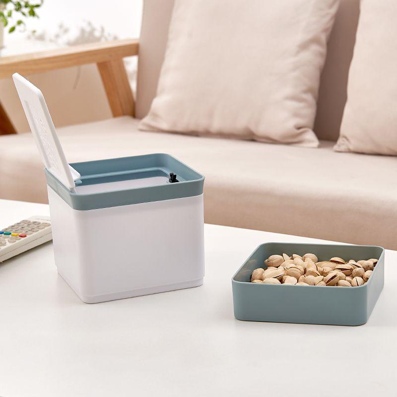 Fonksiyonlu Masaüstü Saklama Kutusu Cep Telefonu Parantez Kozmetik Snack Depolama Box 13 ile Masaüstü Çöp Kutusuna Montajlı