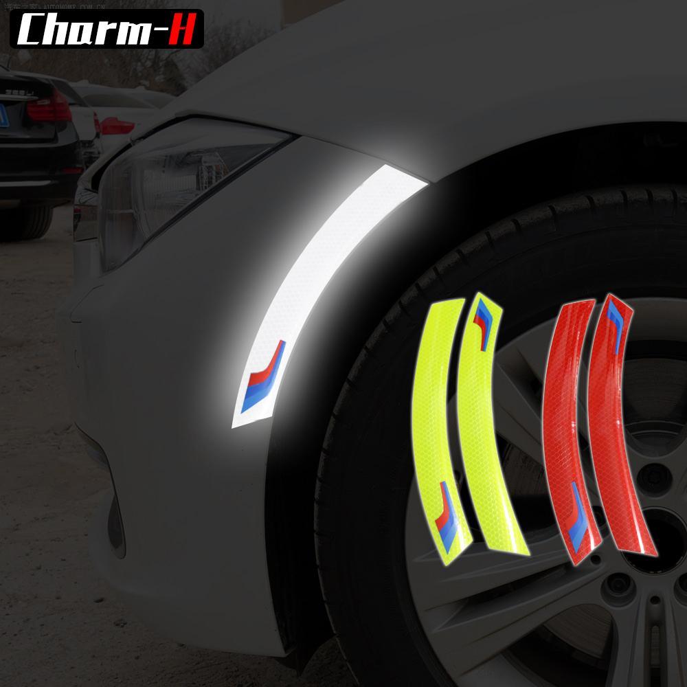 2 قطع سيارة عجلة حامي ملصقات الجانب عاكس سيارة مكافحة الاصطدام المشارب ملصقا ل bmw e90 e60 e46 f30 f10 x1 x5 f07 f01