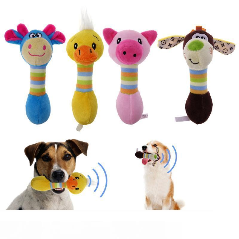 Sevimli Pet Köpek Oyuncaklar Squeaker Hayvanlar Pet Oyuncaklar Peluş Köpek Honking Sincap Köpekler İçin Kedi Squeak Oyuncak Köpek Mal Chew
