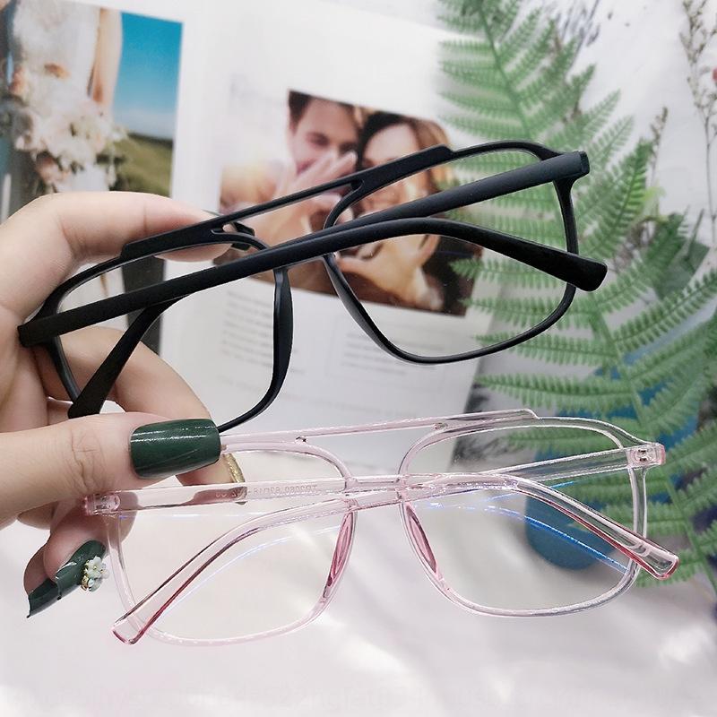 TR90 cadre double poutre anti-bleu clair lunettes lumière cadre de la myopie pour hommes et femmes des lunettes ordinaires