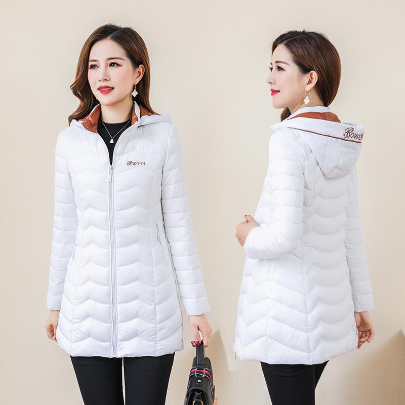 Recolha de Brasão Parkas Quente Feminino jaqueta de algodão Brasão Mulheres acolchoado de Revestimento à Moda à prova de vento Mulheres Winter New Autumn