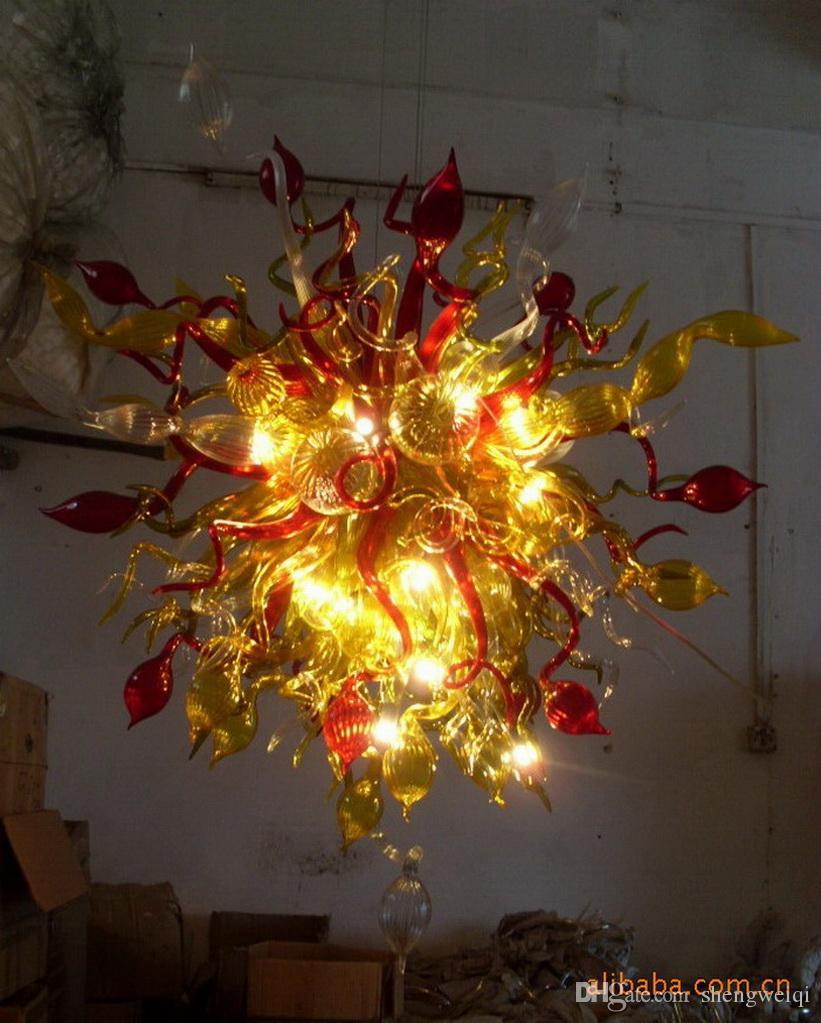 Nuovo arrivo graziosi lampadari in vetro soffiato luci art decor moderno vetro cristallo chihuly lampadario illuminazione per la casa