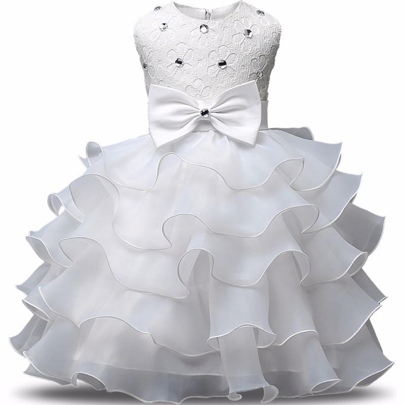 Newborn Girl Christening Dress Baby Girls First Birthday Party Dress Infant Baptism Costume Kids Dresses For Girls Clothes 24m Y19050801