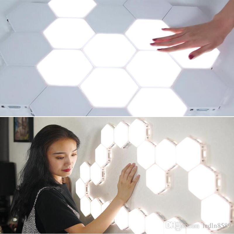 NUOVO Sensitive Touch Lighting Lampada Esagonale lampade Quantum lampada modulare LED Night Light esagoni creativa lampada della decorazione