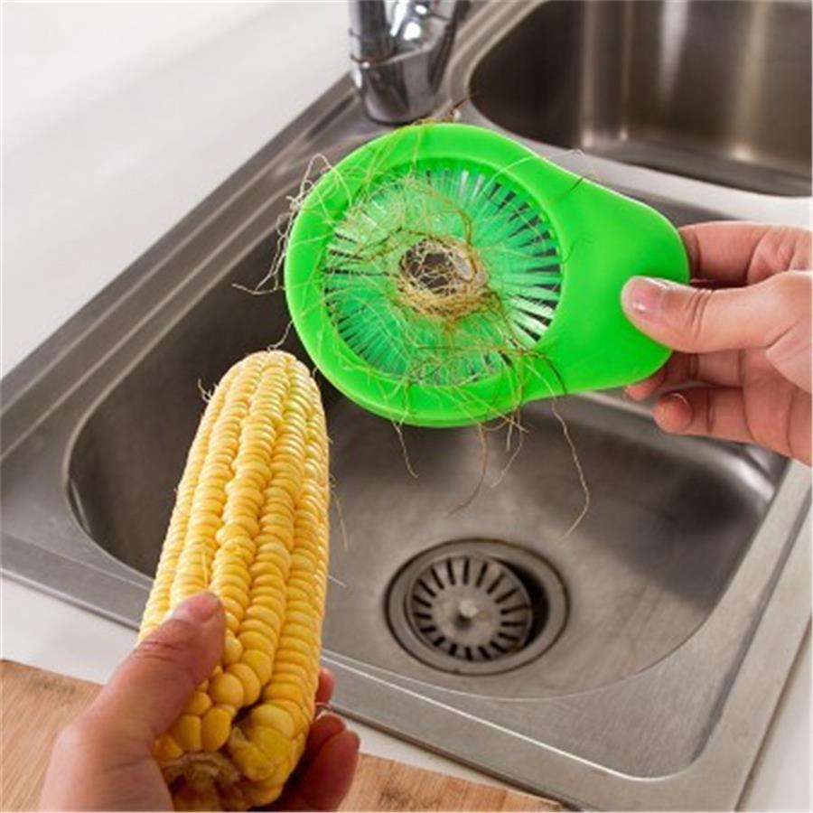 Vente en gros Portable de maïs brosse de nettoyage multi-fonctionnel carotte concombre légumes Brosses Nettoyage de surface Outils Pinceau de cuisine Gadgets