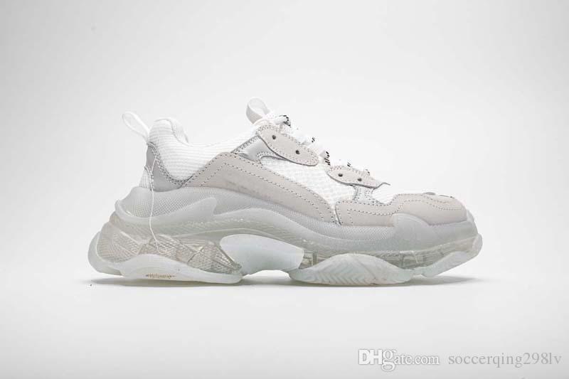 Boutique-2019-Qualitäts-Dad Schuhe 17FW Triple-S-Turnschuh-Männer / Frauen-weiße Laufschuhe Kissen Schuhe