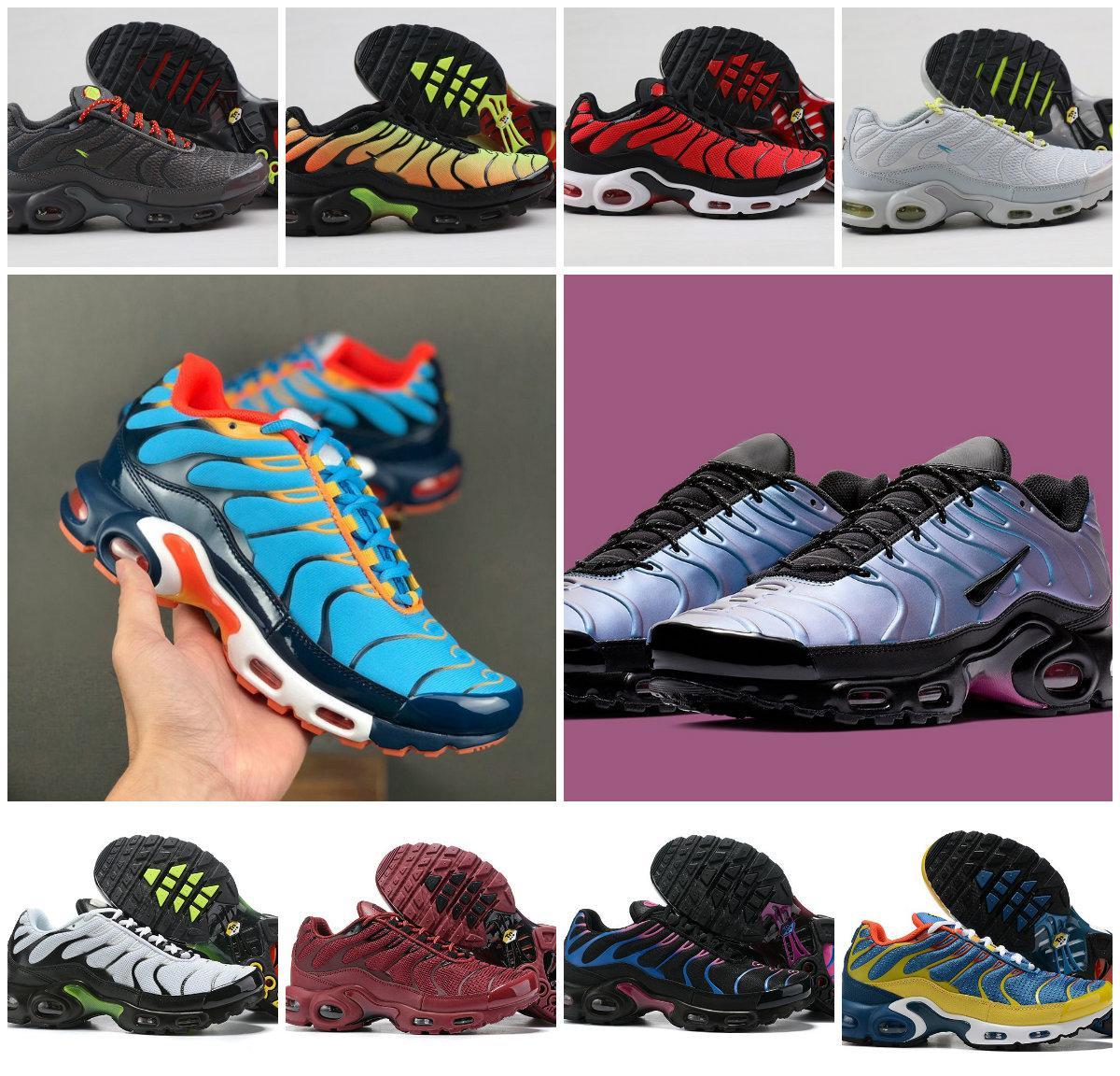 Clásico al por mayor Aire Tn zapatos zapatos casuales barato OG Tn Requin Chaussures Trainer las zapatillas de deporte para hombre de la moda Zapatillaes malla transpirable Tn Plus
