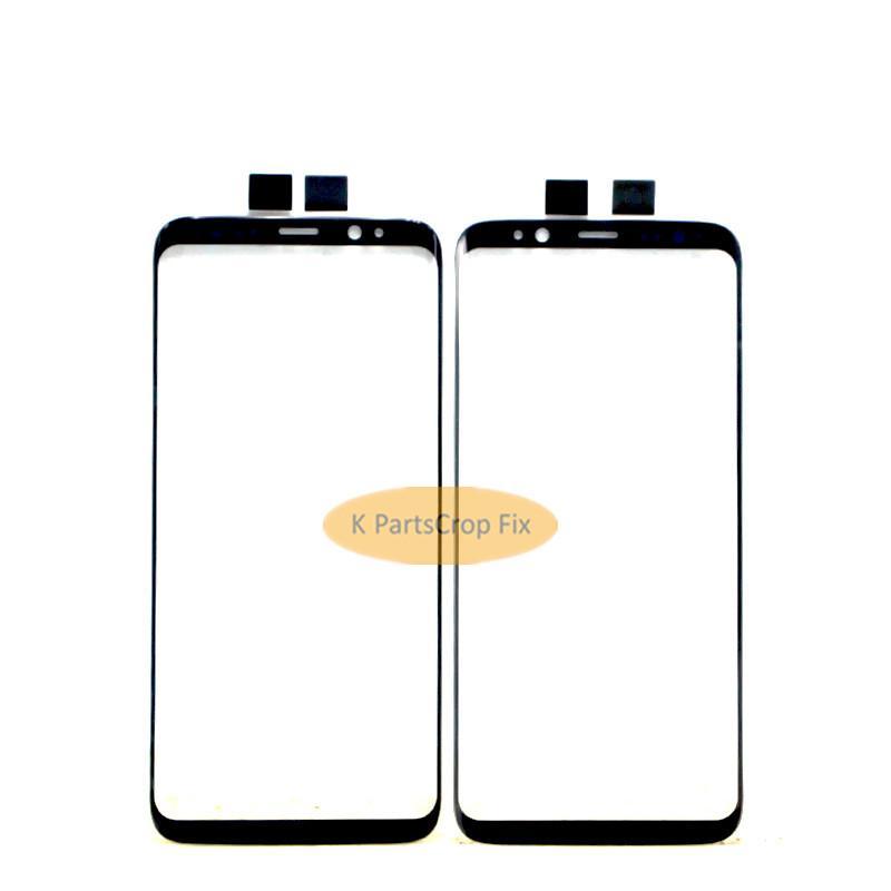 Nuevo negro original S8 más reemplazo de la lente de cristal de la pantalla exterior delantera para Samsung S8 Panel de pantalla táctil digitalizador + herramientas