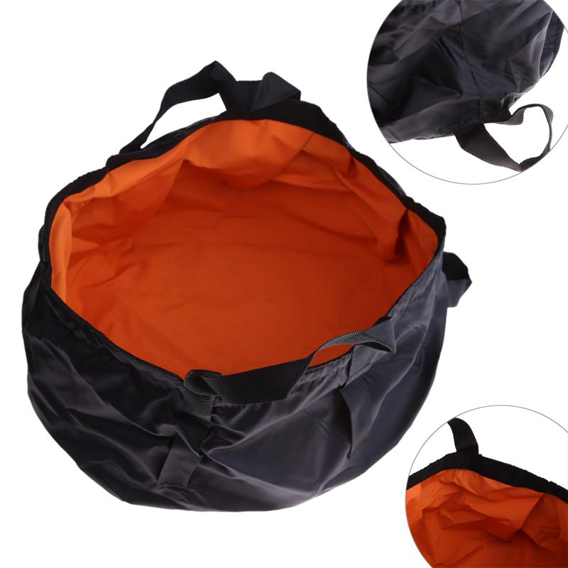 8.5L de gran capacidad de lavado al aire libre que va de excursión de picnic plegable portátil cuenca del Cubo de Agua Pot
