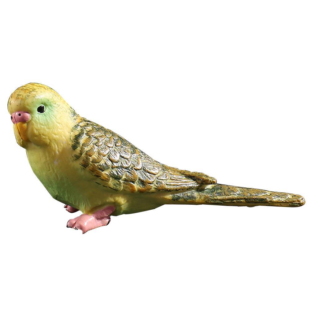 Decorative Simulation Parrot, Artificial Figures Miniature Animal Model Birds, Craft Bird For Home Ornaments,blue/ Green(green) C19041601