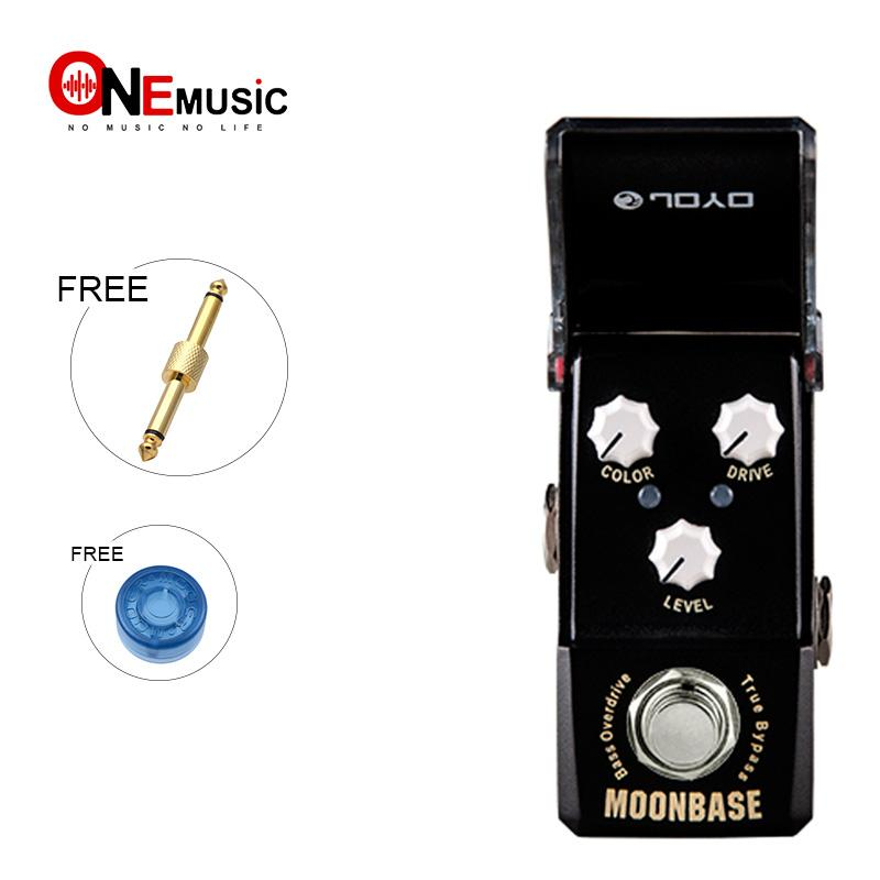 Joyo Ironman Mini Series JF-332 MOONBASE BASS Overdrive Effect Guitar Pedal Black With Gold Pedal Connector and Mooer Knob