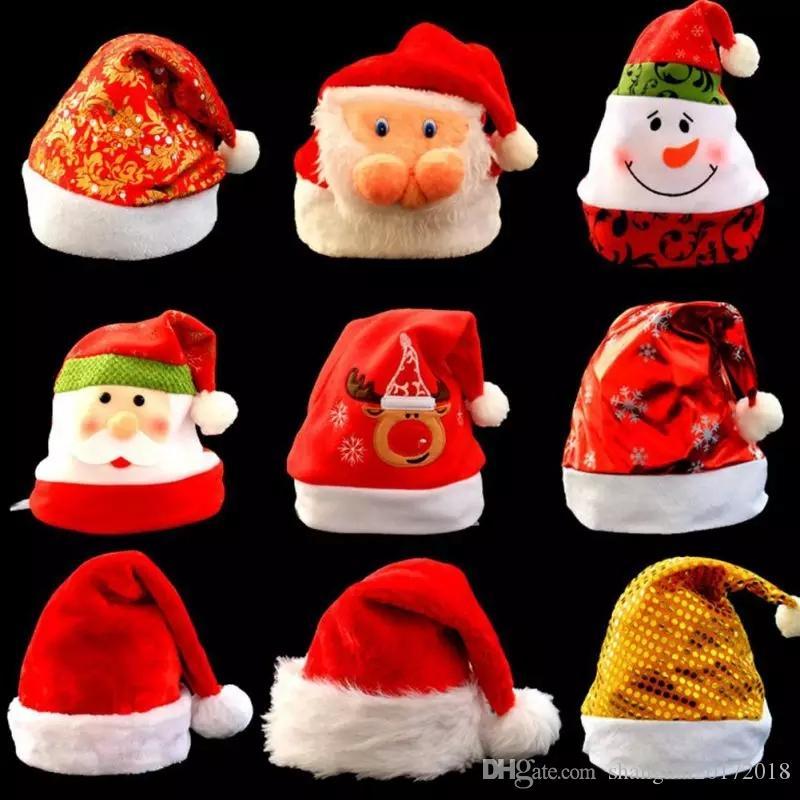 Chapeaux De Noël Mignon Père Noël Bonhomme De Neige Motif Chapeaux Multi-designs Chapeaux De Noël Adultes Enfants Pour La Fête De Noël Accueil Boutique Décoration