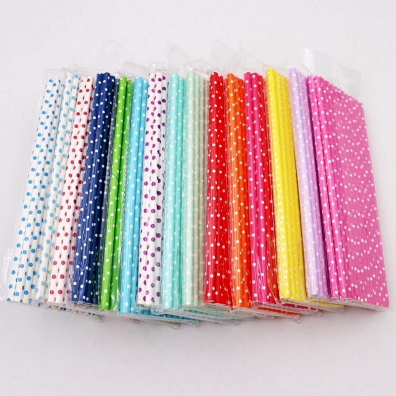 Pajitas de papel de colores Pajitas de papel de colores Fiesta de cumpleaños para niños Decoraciones de boda