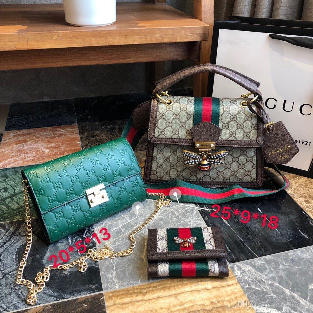 LUXURYS tasarımcılar kadın çanta bayanlar tasarım katı renk alfabe nakış bilezik cüzdan deri zincir çanta CROSSBODY A00223
