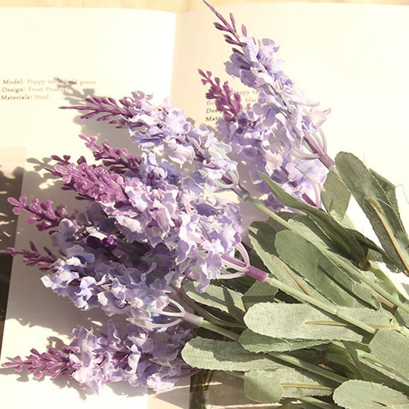 10 Heads Lavender Bouquet Artifical Flowers Home Party Decoration Wedding Decor