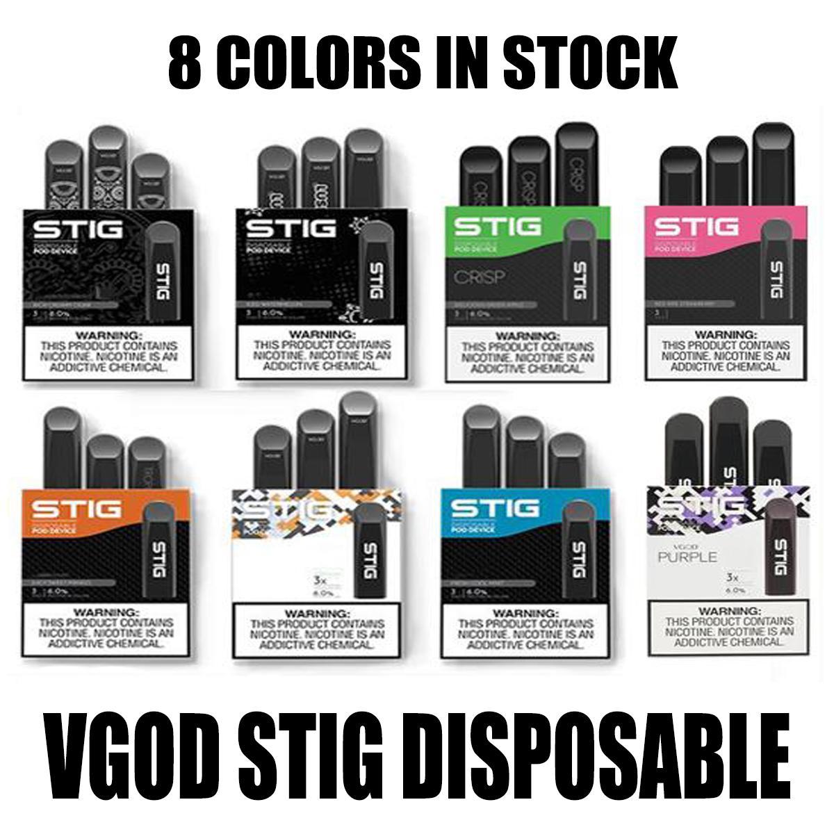 100% Original Vgod Stig Einweg-Pod-Gerät 3pcs Pack 270mAh-Batterie 1.2ml-Patrone Vape Pen-Kit PK Eon-Stick