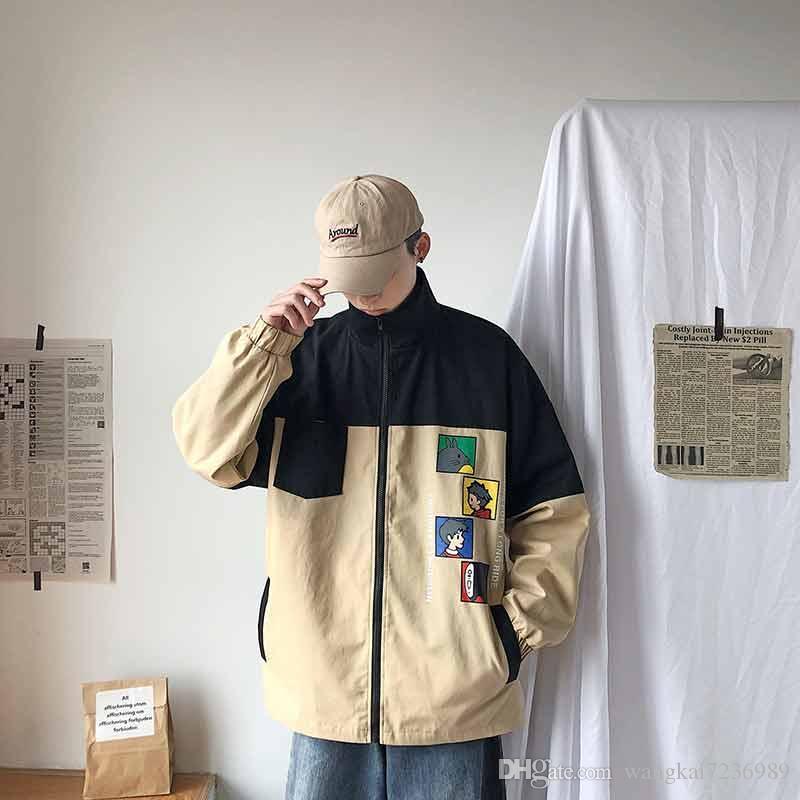 2019 Nouveau Veste Homme Slim Veste style européen et américain Homme Simple Veste Homme V34