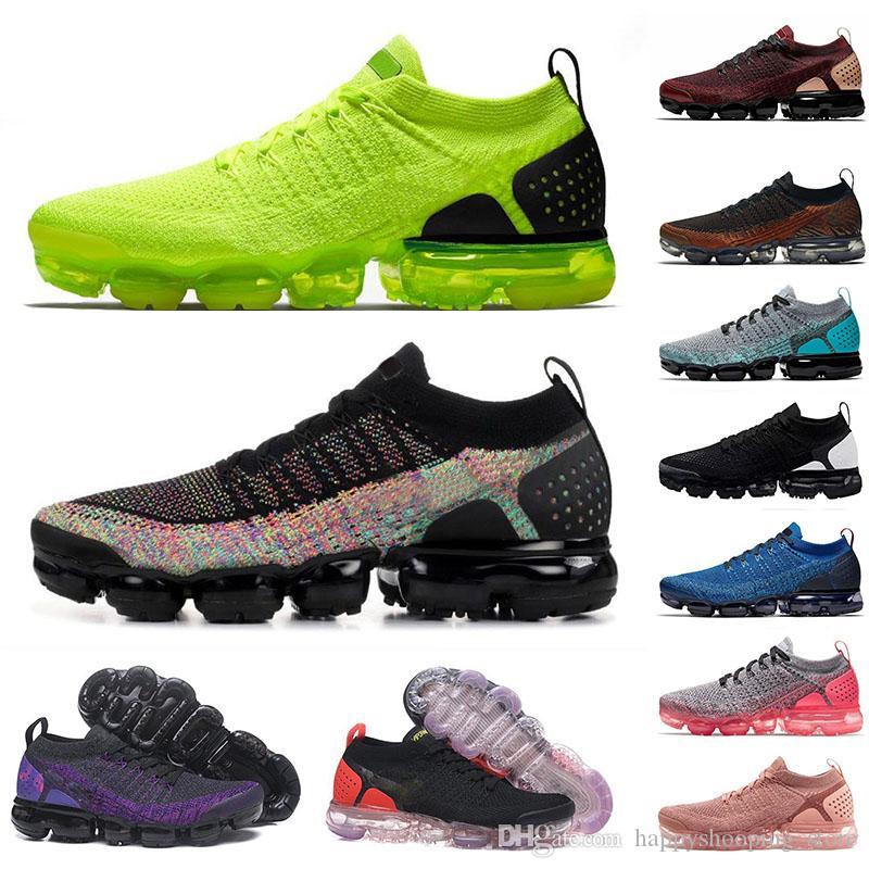 2019 Aire de la mosca de los zapatos corrientes de los hombres Negro 2.0 Triple 3.0 Tiger Gym rojo de las mujeres respirables correr al aire libre Deportes zapatillas de deporte