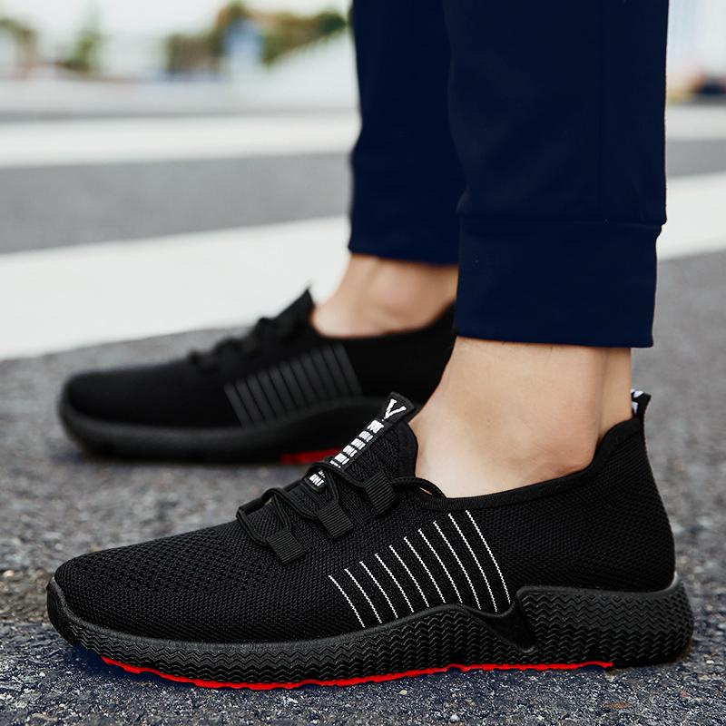 Sneakers Men Outdoor Mesh Casual Lace Up Comfortable Soles Running Sports Shoes