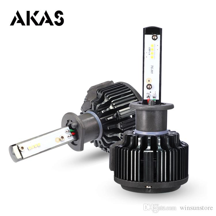 Car lights 1Pair Philips T6 Car Headlight 12V 7000LM 6000k H1 H3 H4 H7 H11 LED 880 9005 9006 9004 9007 Car Lights