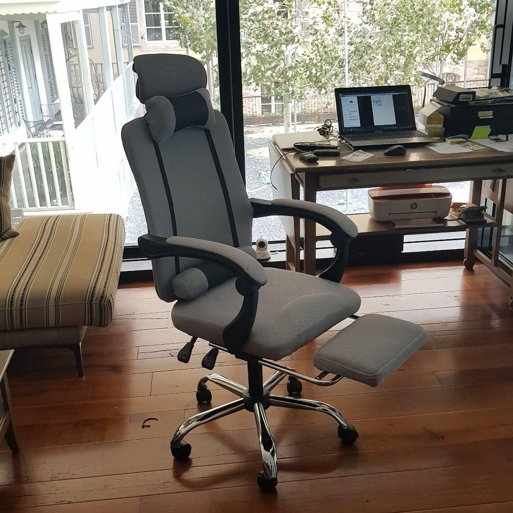 Bürocomputer Lehrstuhl für Möbel Hebe Reclining Gaming Drehbare Fußrasten High Back Ergonomischer Sessel Möbel Stuhl