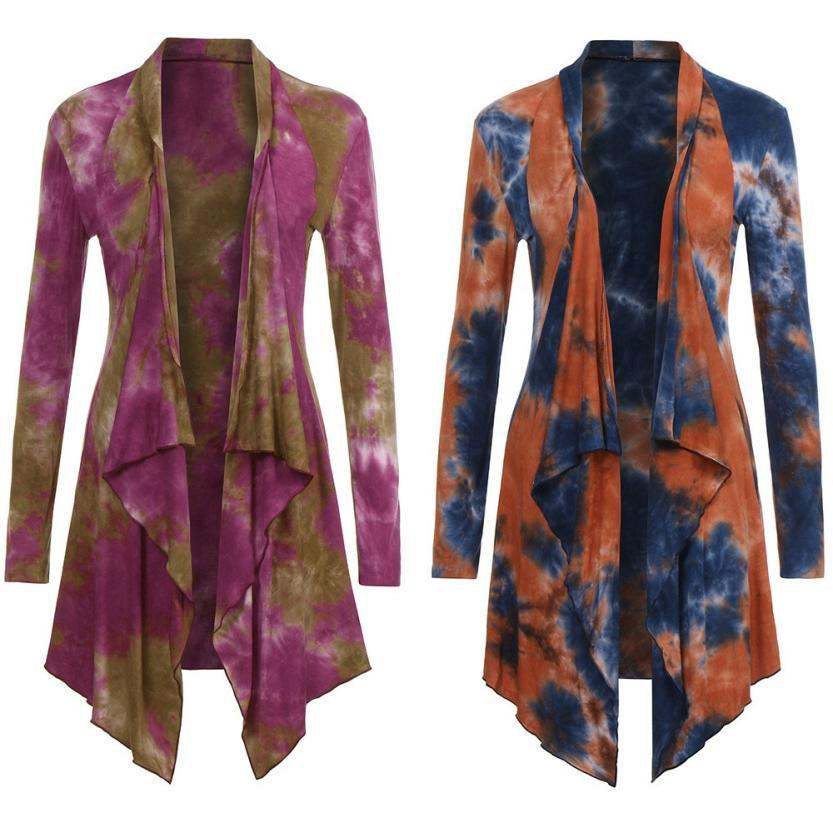 Giacche da donna Capispalla Cappotti Drappo Drape Front Open Cardigan Irregolare Blamosa Irregolare Blusa Allentato Kimono e Donne 2021Dec1