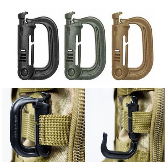 für Rucksack Tasche 10pcs Outdoor Molle EDC Gurtband Verbindungsschnalle Clip DE