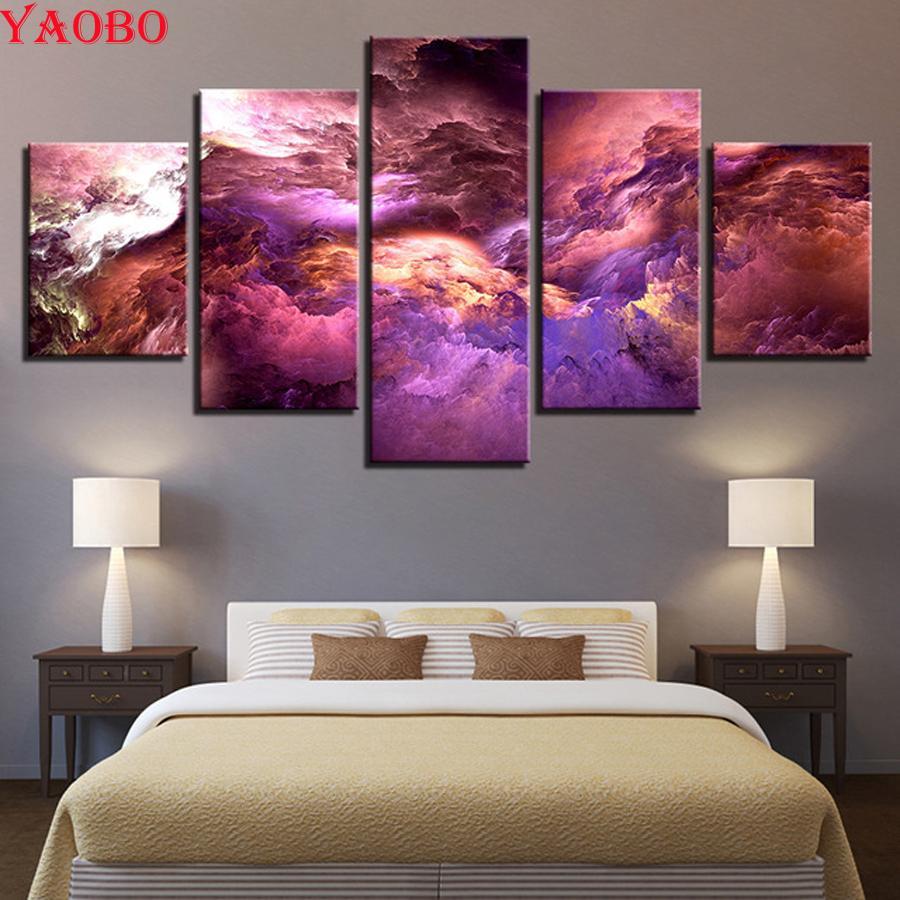 5d diy praça cheia de diamantes pintura ponto cruz diamante bordado 5 painel colorido nuvens paisagem para sala de estar decoração de casa
