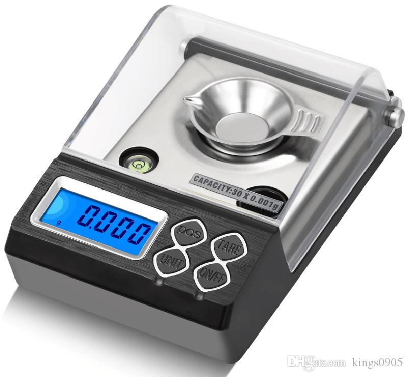 High Precision 0.001g Digital Milligram Scale Lab Gold Herb Balance Counting Carat Scale Electronic Jewelry Scales Medicinal Use